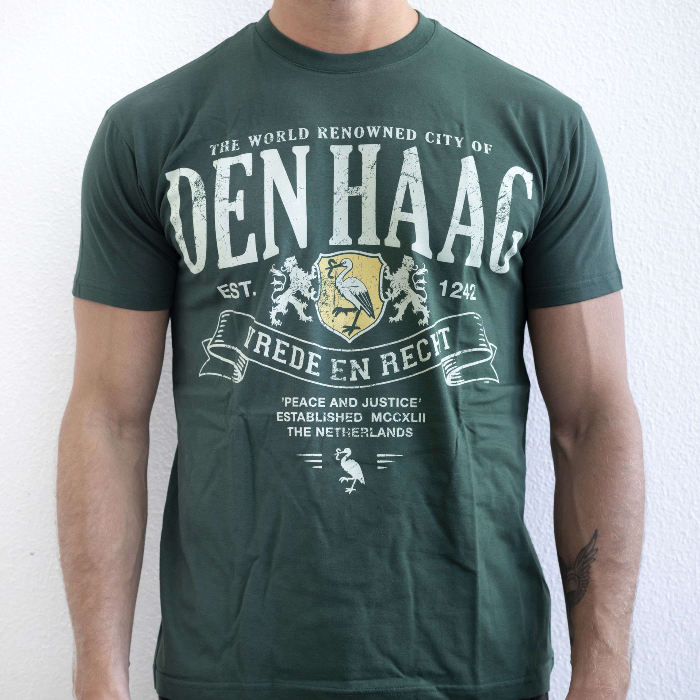 The Hague T-shirt Green maat Large