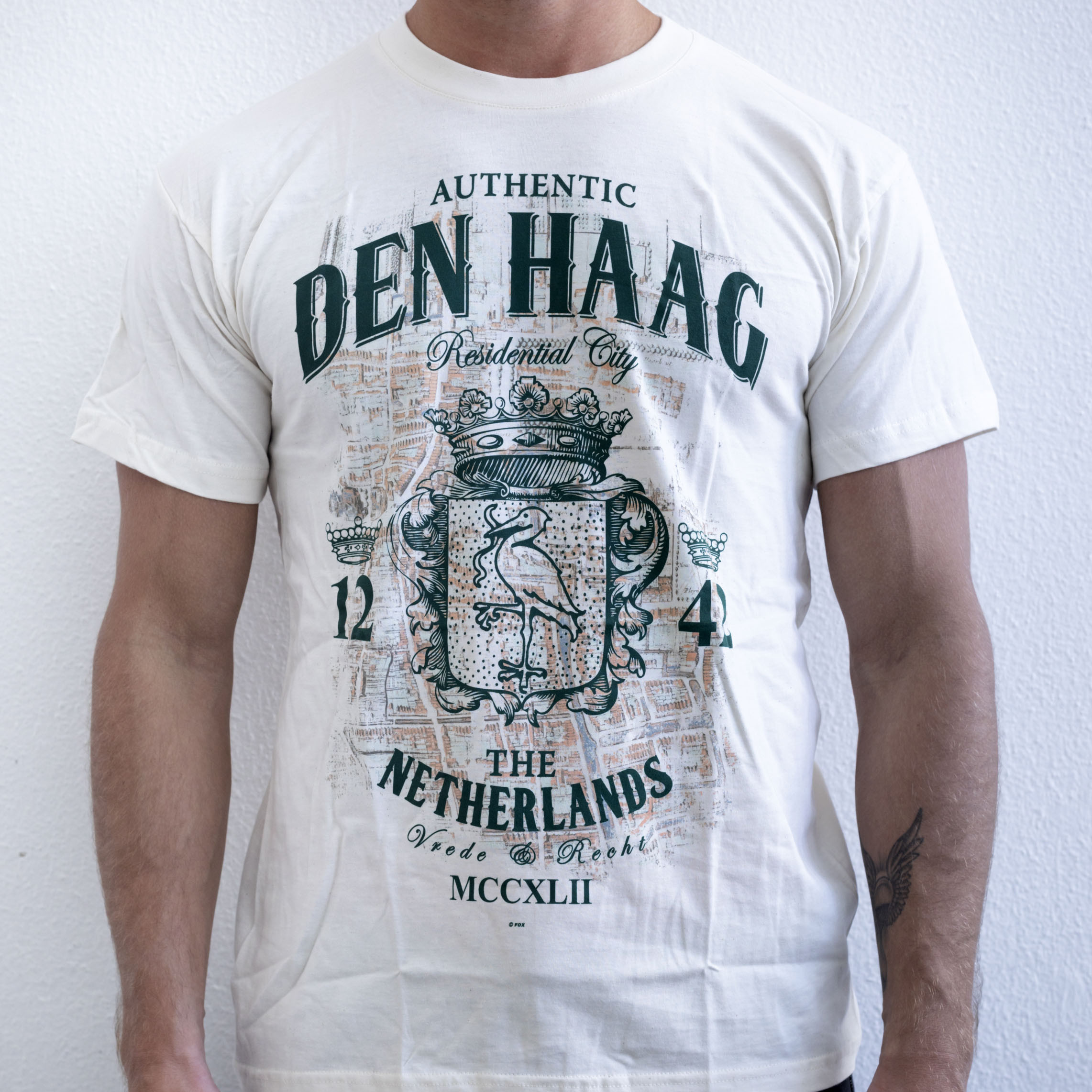 The Hague T-shirt White maat Large
