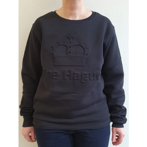 Sweater Crown Zwart Maat Extra Large